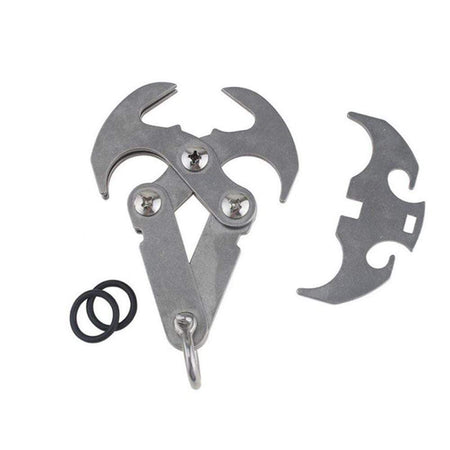X XBEN Stainless Steel Survival Folding Gravity Hook