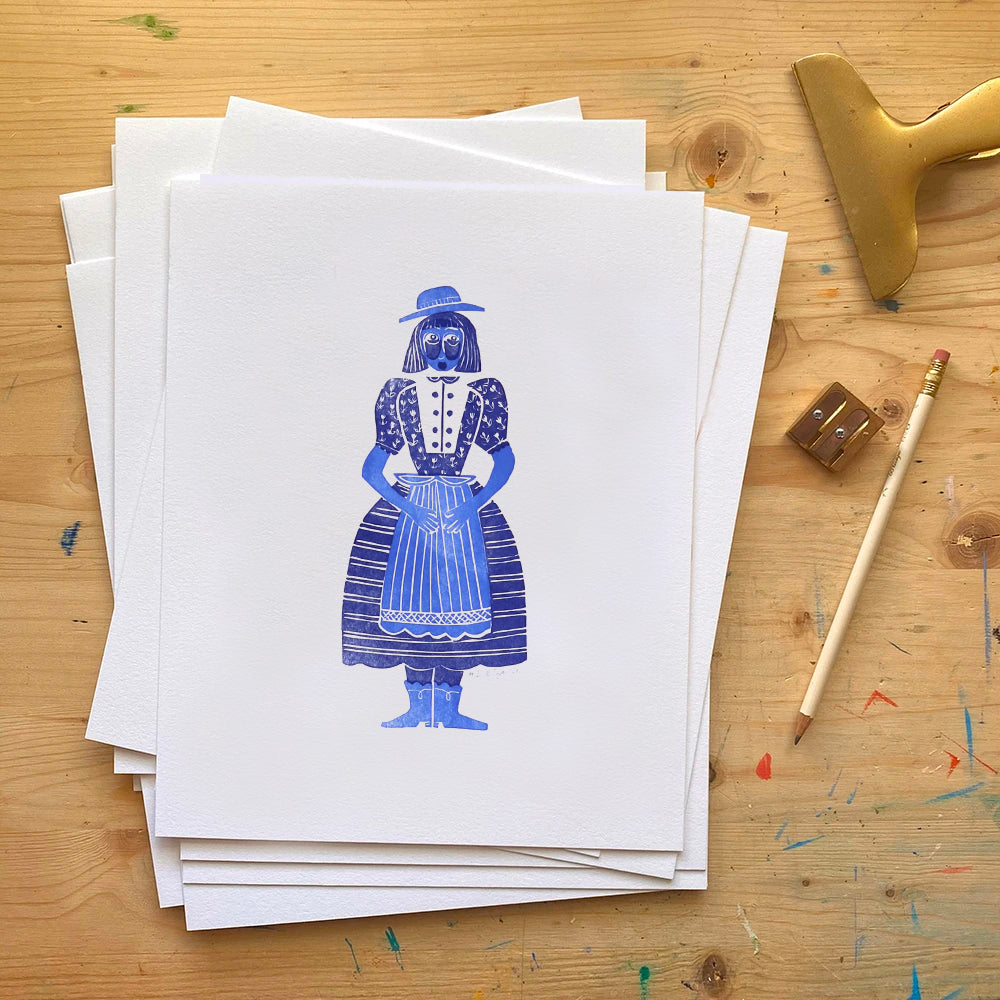 Frauline Letterpress Art Print