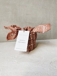 Coral Limited Edition Bandana + Candle
