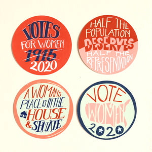 Votes for Women Sticker: Half the Population