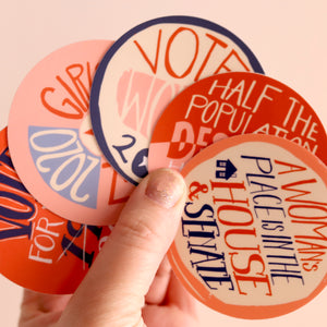 Votes for Women Sticker: GIRLS FOR PREZ