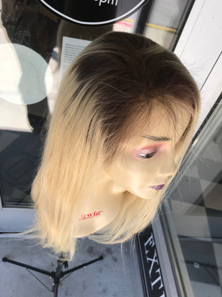 Human blonde ombré full lace wig 2019