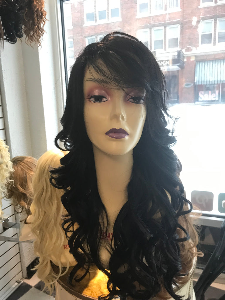 Black Fullcap wig long curly 2019