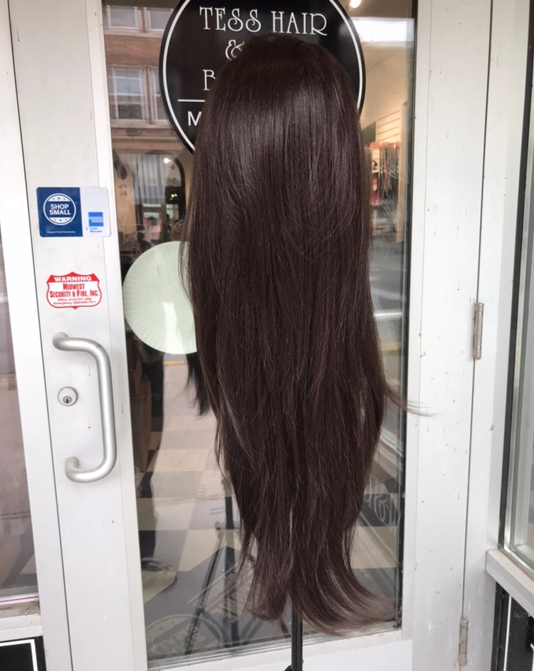 Brown Lacefront wig 30+ inch Long 2019