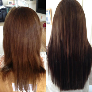 Clipin human hair extensions