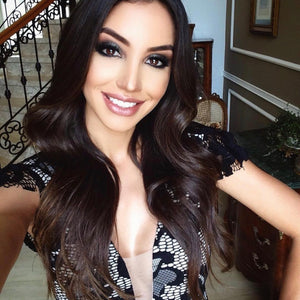 Clipin hair extensions Dark Brown Chicago