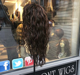 Curly Brown Highlights Wig 24-26 inch Long