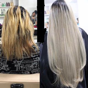 Ash Blonde Clipin Human hair 22 inch Long