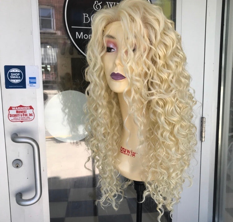 Curly 613 Freeparting wig