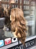 Long blonde Lacefront wig Romance Curls 2019