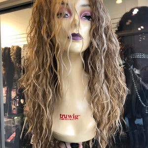 Blonde curly Swisslace Lacefront wig Miami