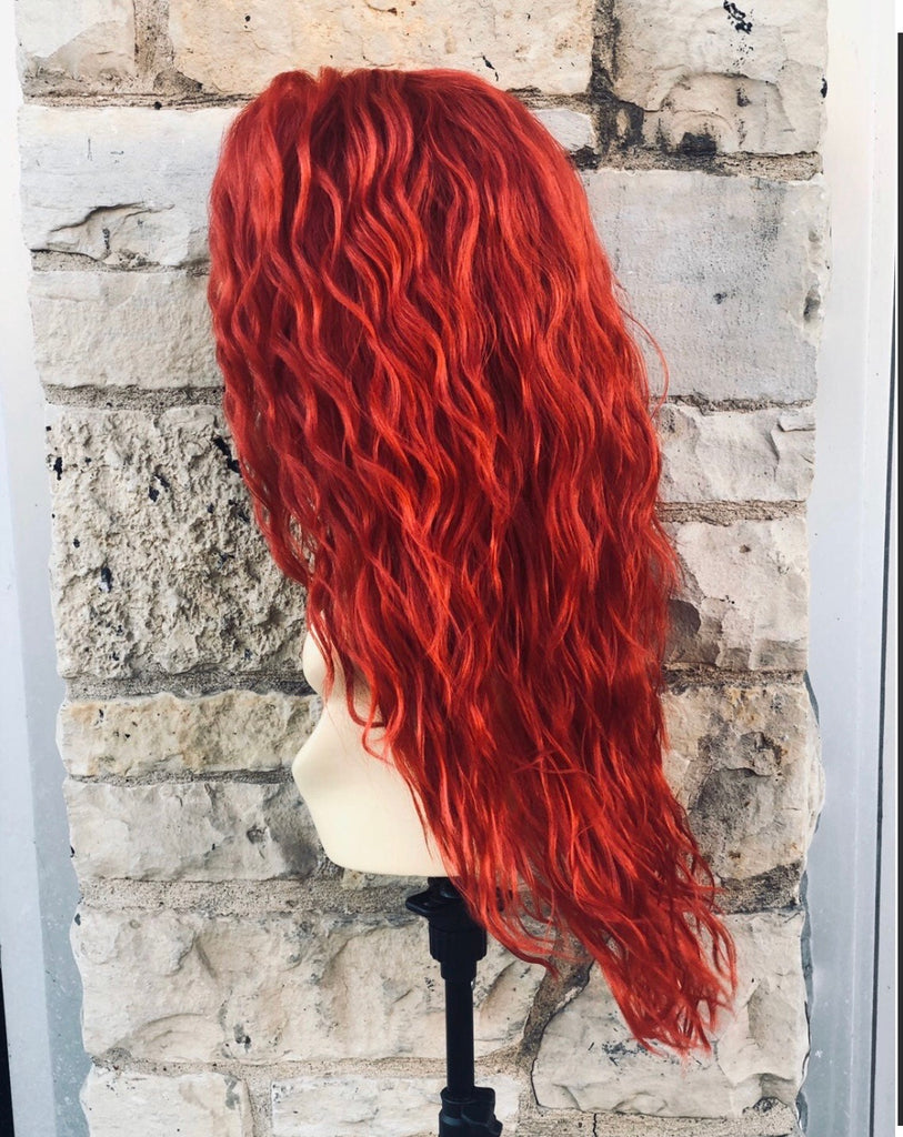 Pamela Red Curly long Red wig