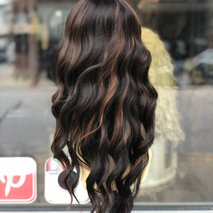 Cheap wig bangs beach waves