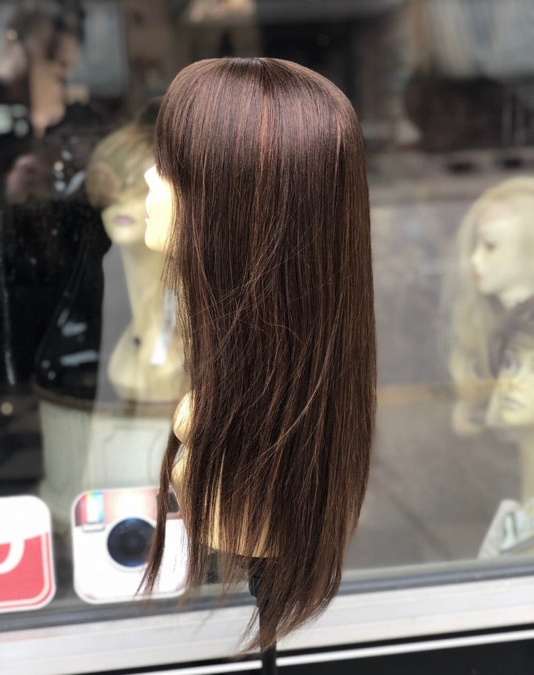 Pure 100% Brown Wig