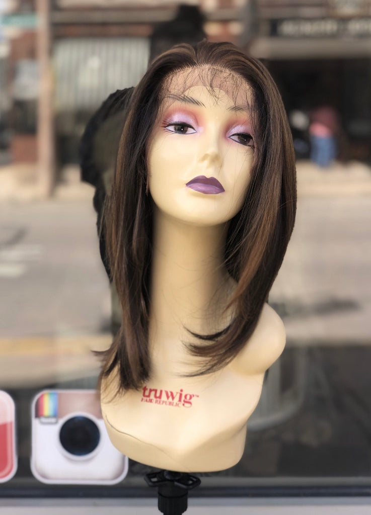 Angelic Dark Brown Realistic Looking Wig