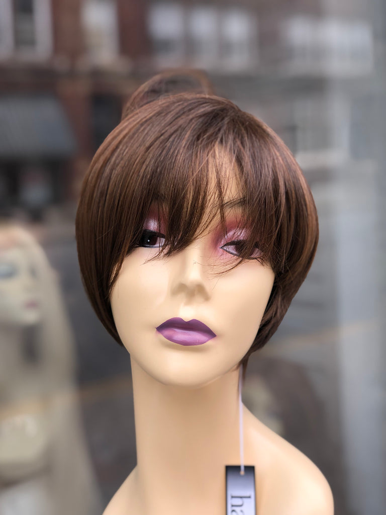 Short angle bob wig  hairuwear brown Highlights