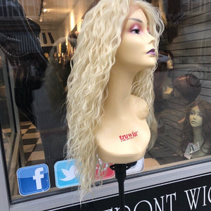 Full lace blonde curly wig 613 fulllace