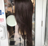 Long Brown Layers Lacefront Wig