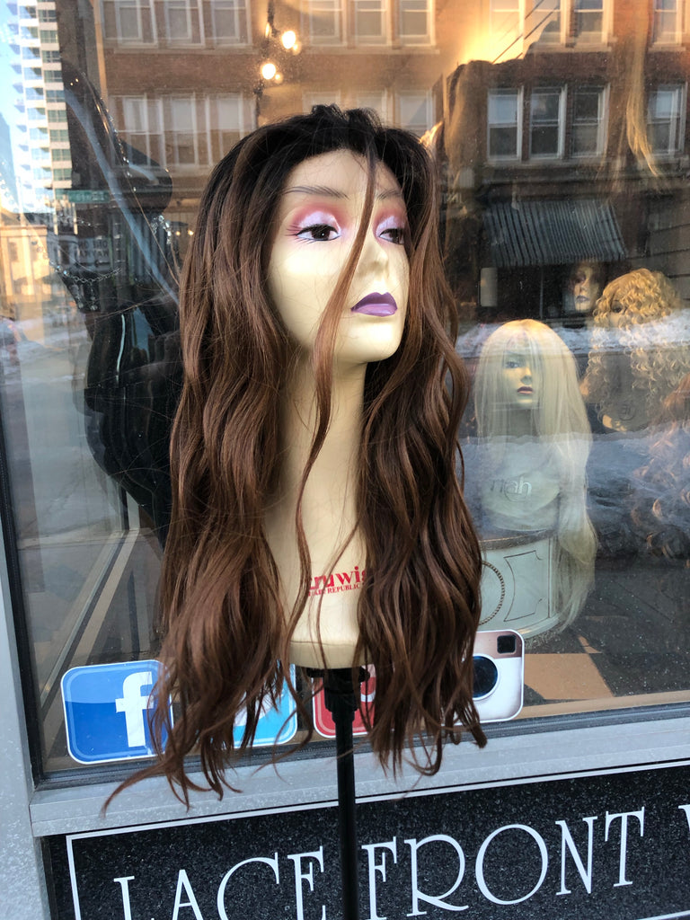 Wig fullcap Wavy Sale Long warm Brown 2019