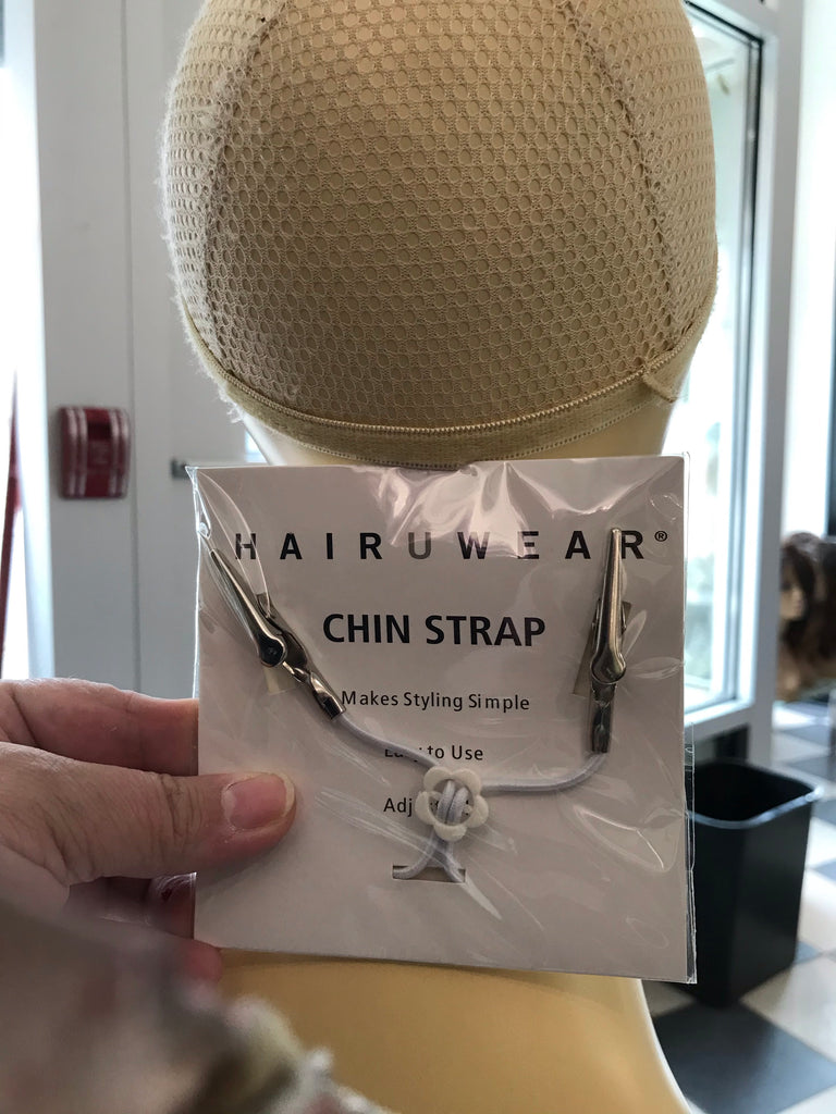 Hairuwear chin strap hold wig on down