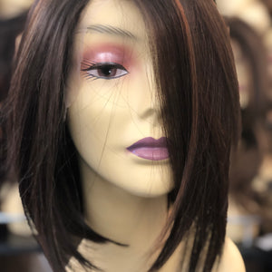 Lisa Bleached knots Transparent Lace Wig