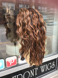 Curly copper brown wig sale Lacefront 2019