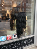 Black Long wavy Wig Swisslace lacefront 2019