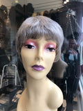 Short grey silver wig human hair 2019