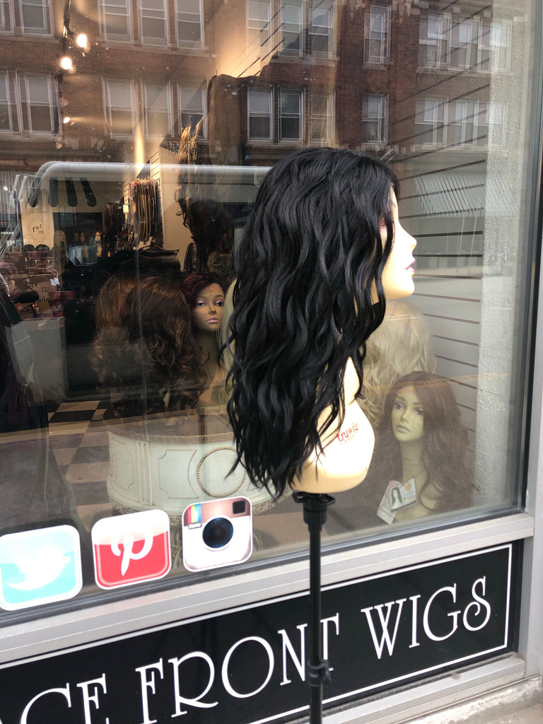 Black wavy lacefront wig soft Swisslace 2019