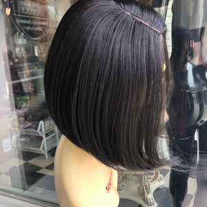 Black bob wig short sidePart 2019 hairstyle