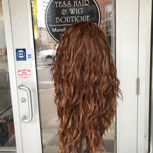 Wig sale copper Irish red wig long curly Nashville