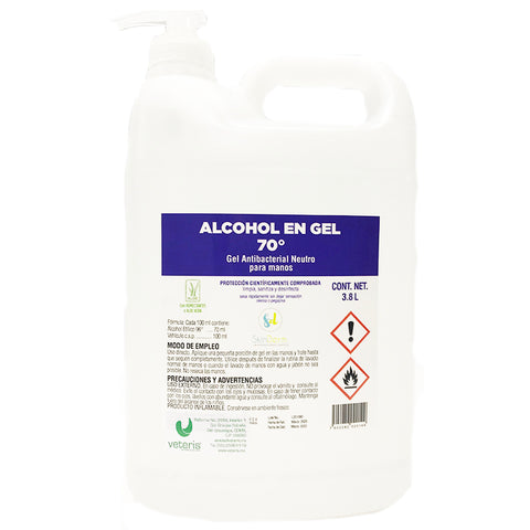 Alcohol en Gel al 70º para manos 3.8 L. ( Gel sanitizante)