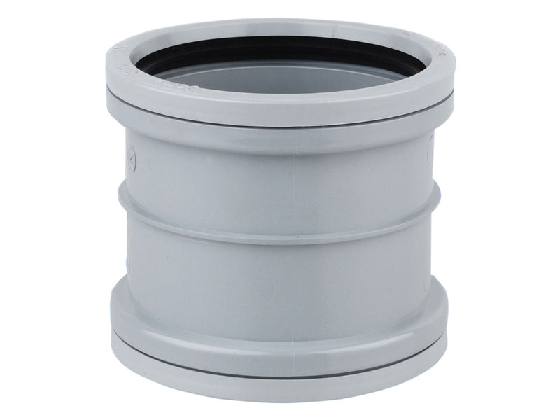 4S105 - Osma 110mm Round Downpipe D/S Double Socket - For Repairs