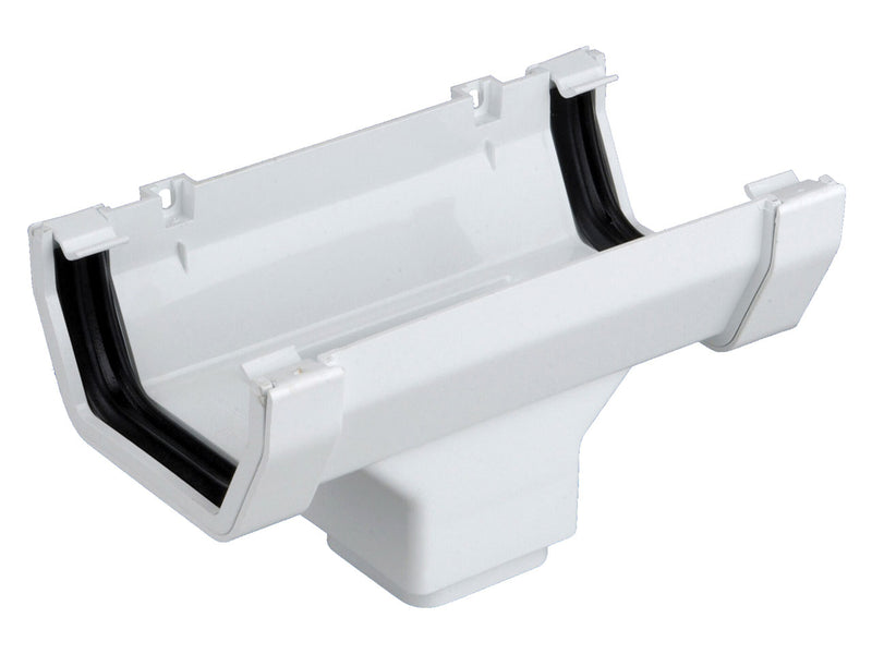 4T806 - Osma 100mm Square line Running Outlet - Connects to 62mm Square Downpipe