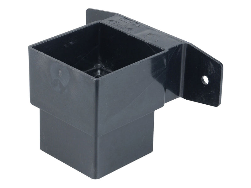 4T824 - Osma 62mm Square Downpipe Pipe Connector and Bracket -Stand Off
