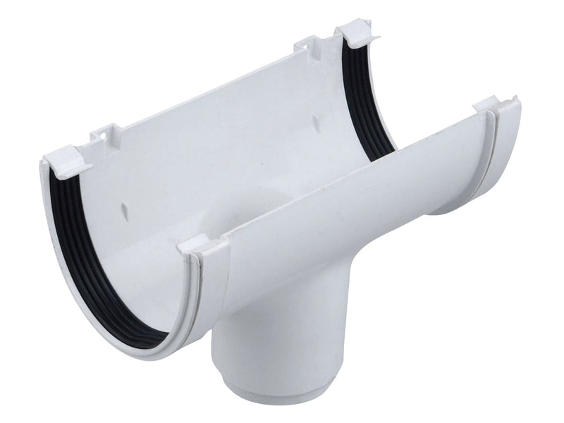 9T906 - Osma 113mm x 76mm Deep Line Running Outlet - Connects to 68mm Round Downpipe