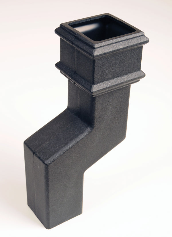 "BR575LCI- Brett Martin ""Cast Iron Style"" 65mm Square Pipe Offset - 75mm Offset"