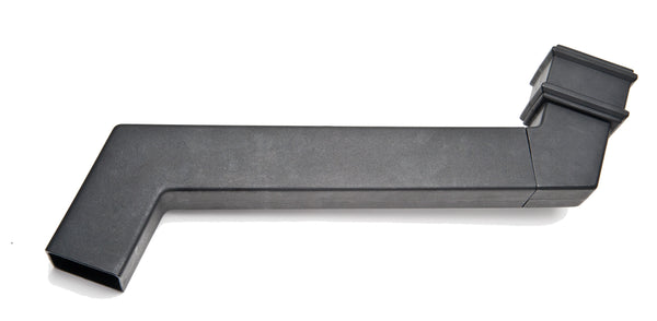 "BR8001CI- Brett Martin ""Cast Iron Style"" 100mm x 75mm Rectangular Adjustable Side Projection Offset - 120mm - 455mm"