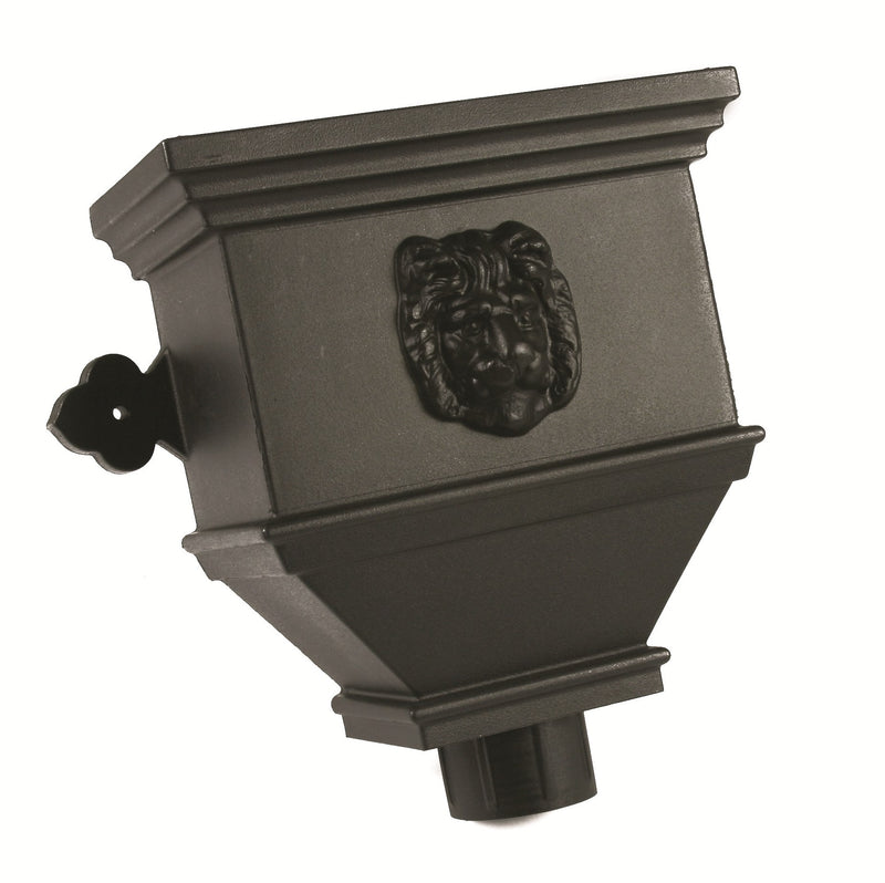 "BRH84LNCI- Brett Martin ""Cast Iron Style"" Bath Hopper Lion - 100mm x 75mm Outlet"