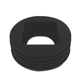 D96 - Floplast Universal Rainwater Adaptor - 68mm Round /65mm Square Connects to 110mm Drainage