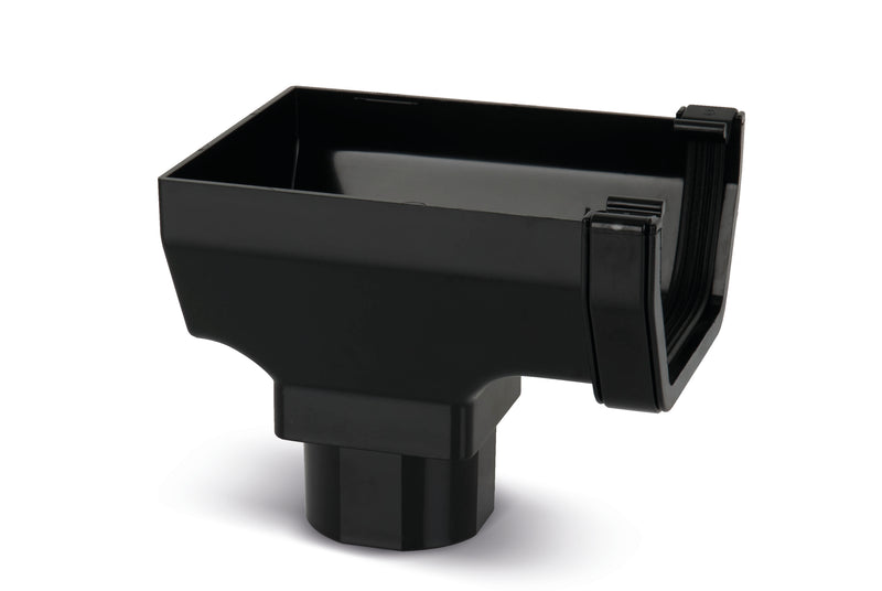 RWSO2 - Marshall Tufflex Square Line 114mm Gutter Stopend Outlet - To Fit 65mm Square
