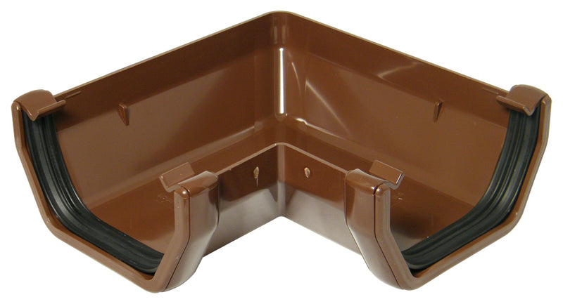 RAS1 - Floplast 114mm Square Line Gutter 90 Degree Angle
