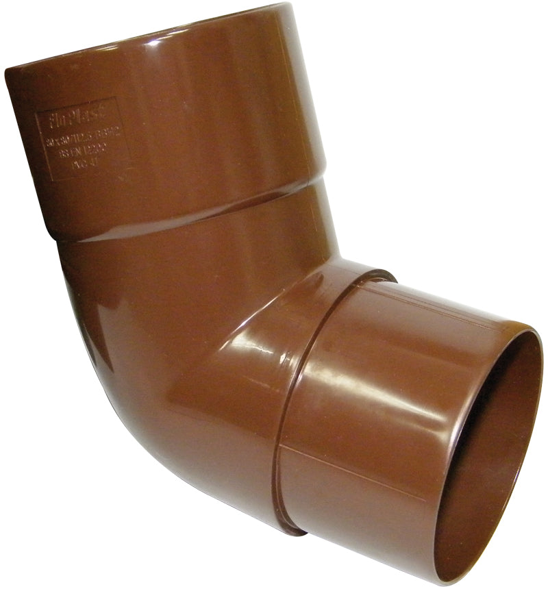 RBH2 - Floplast 80mm Down pipe Offset Set Bend 112.5 Degree x 80mm