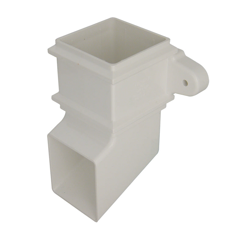 RBS4 - Floplast 65mm Square Pipe Shoe- With Lugs