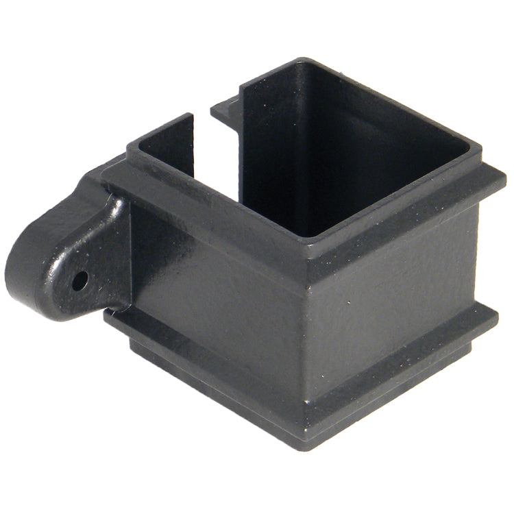 "RCS4CI - Floplast ""Cast Iron"" Style  65mm Square Downpipe ""Classic"" Clip - With Fixing Lugs"