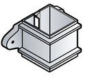 RCS4 - Floplast 65mm Square Pipe Clip- With Lugs