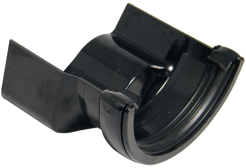 RD4 -Floplast 112mm Half Round to Cast Iron Ogee Gutter Adaptor - Left handed