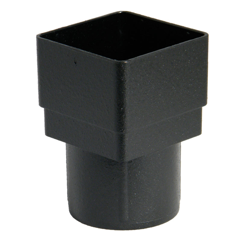 "RDS2CI - Floplast ""Cast Iron"" Style 65mm Square to 68mm Round Downpipe Adaptor"