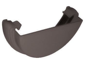 RE1 - Floplast 112mm Half Round Gutter External Stopend