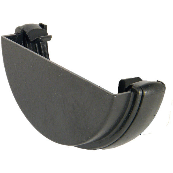 "RE1CI - Floplast ""Cast Iron"" Style 112mm Half Round Gutter External Stopend"